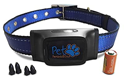 Humane Bark Control Collar, 7 Different Bark Sensitivity Levels, Extremely Effective & No Pain or Harm, Bark Collar Vibration NO SHOCK, Premium Nylon Collar and No Rust Buckle, For 15-150 lb Dogs