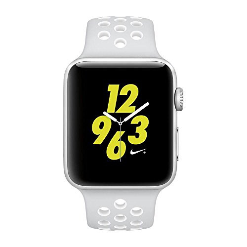 Apple Watch Nike+ 42mm Silver Aluminum Case Pure Platinum/White Nike Sport Band by Apple (Image #1)