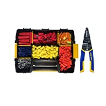 520 Piece Electrical Wire Connector Assortment Set with STANLEY STST14021 Sort Master Light Storage Case and IRWIN Tools VISE-GRIP Multi Tool Stripper, Cutter and Crimper, 8-Inch (2078309)