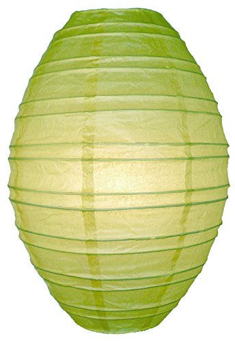 Quasimoon PaperLanternStore.com Light Lime Kawaii Paper Lantern