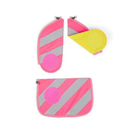 Ergobag Sicherheits-Set mit Reflekorstreifen, Ergobag Cubo/Cubo Light, Set 3-teilig, Pink