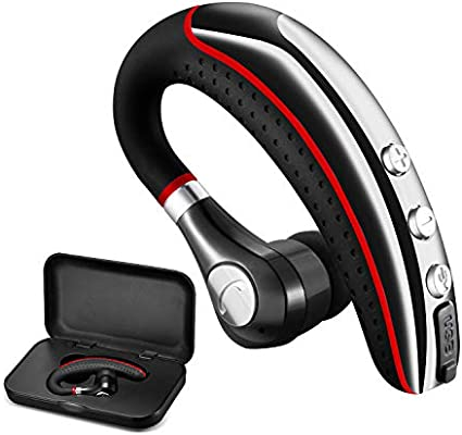 Amazon Com Bluetooth Headset Wireless V5 0 Business Bluetooth Earpiece In Ear Lightweight Sweatproof Earphones With Mic Work For Cell Phones For Office Workout Driving Electronics