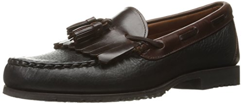 Allen Edmonds Men's Nashua Moccasin,Black Grain/Brown,9 C US