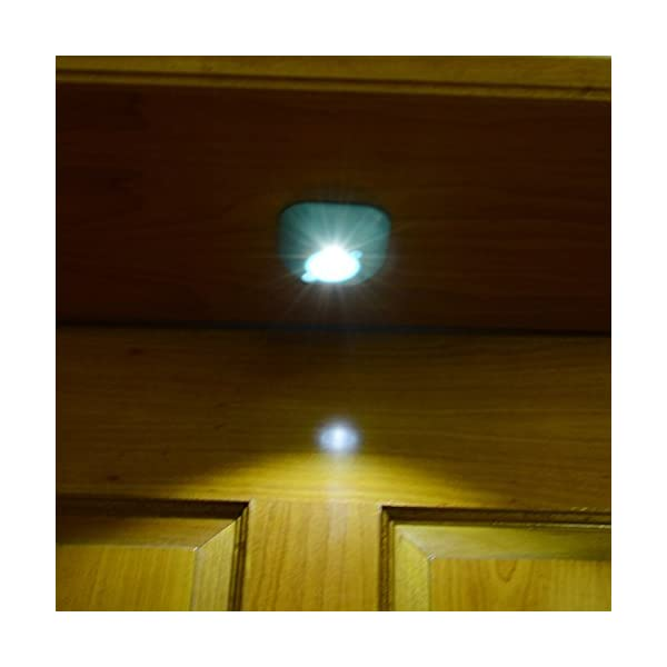 Blue - Pack of 3 Beautiful up Motion-Sensing LED Night Light Multi-Colors LEDlighting Cordless Battery-Powered Stick-Anywhere Especially Cabinet /& Hallway