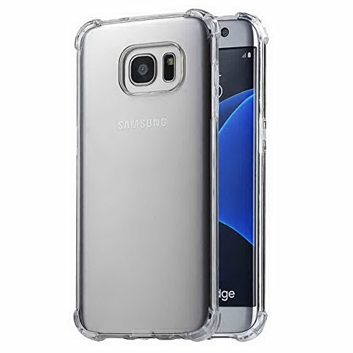 Samsung Galaxy S7 Transparent Case with Reinforced Corners, [Anti-Discoloration] [No-Slip Grip] - Man Za