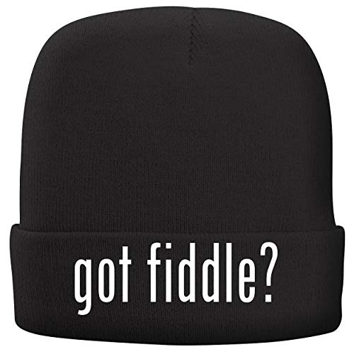 (BH Cool Designs got Fiddle? - Adult Comfortable Fleece Lined Beanie, Black)