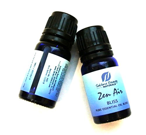 Zen Air BLISS Essential Oil Blend for Happiness, Uplift of Spirit + Purify Air of Microbes. 10 ml. (Air Bliss)
