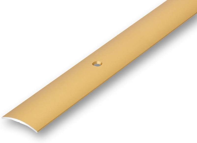 1000 mm gebohrt, gold /Übergangsprofil 30 mm gew/ölbt gebohrt in 6 Eloxalfarben T/ürprofil Schweller Ausgleichsprofil