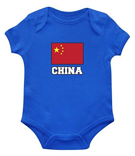SpiritForged Apparel China Flag Infant Bodysuit, Royal 24 Months