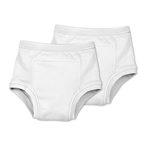- green sprouts Organic Training Underwear, White, L, 2 Count