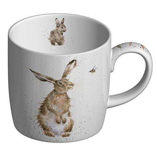 Wrendale Designs The Bee (Hare) Fine Bone China Single Mug, Multi Coloured, 8 x 12 x 8 -