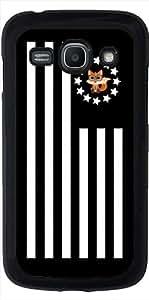 Funda para Samsung Galaxy ACE 3 S7272/A7275 - Zorro Empollón - Bandera by Adamzworld