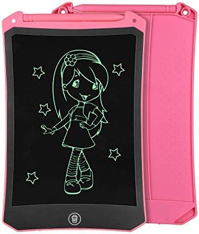 [スポンサー プロダクト]8.5インチLCD Writing Tablet ライティングボード、電子ノートメモ帳 パッド、筆談ボード、手書きパッド家計簿、文房具 メモ帳、伝言ボード、子供の贈り物、製図板、メモボード、メッセージボード、練習言葉屋用ボード、掲示板 - ピンク