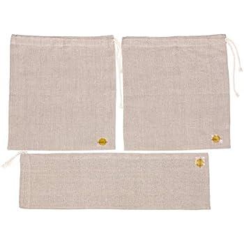 Amazon.com: Bolsas de pan de lino para pan casero. Juego de ...