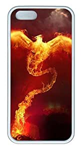 Phoenix Custom Case Cover Compatible with Apple iPhone 5S/5 - TPU - White