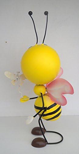 rosa Krippenbaustudio B/öhner Dekofigur Biene Sumsi 1 Gartenfigur aus Metall,