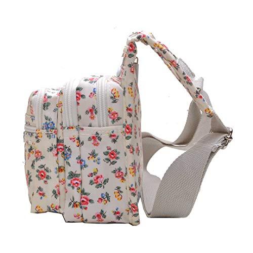 Impermeable Bolsas Nylon Bolsa Moda Pequeño Viaje Impermeable Bolsos Mujer Bolso de de Bandolera 313 para Mochilas Floral qwxWzYP