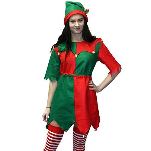 Morph Womens Christmas Toyshop Elf Costume for Women Adult Festive Fancy Dress Red ()