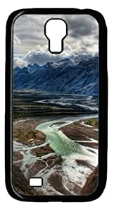 Mountain Valley Custom Samsung Galaxy I9500/Samsung Galaxy S4 Case Cover Polycarbonate Black by lolosakes