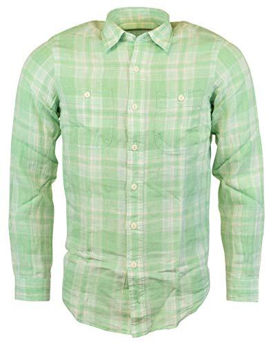 Polo Ralph Lauren Men's Plaid Linen Workshirt (Small, ()
