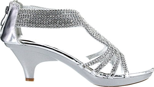 Image of V-Luxury Womens 32-ANGEL37 Open Toe Med Heel Wedding Sandal Shoes