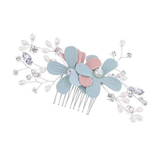 Floral Crystal Hair Comb Girls Hair Slice Wedding Hair Comb for Wedding