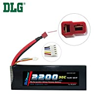 DLG 14.8V 2200mAh 4S 30C Burst 60C LiPO Li-Po High-Discharge Rate Powerful Battery with Dean's T Plug
