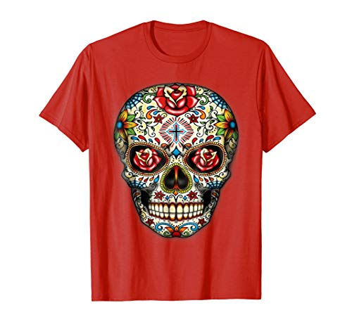 Sugar skull shirt Day of Dead shirt Dia de los Muertos shirt