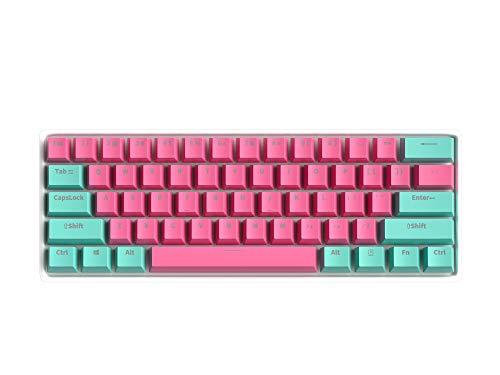 BOYI 60% Mechanical Keyboard,BOYI 61 Key Mini RGB Cherry MX Switch PBT Keycap 60% RGB Mechanical Gaming Keyboard (Cherry MX Blue, BOYI Mini Color 4)