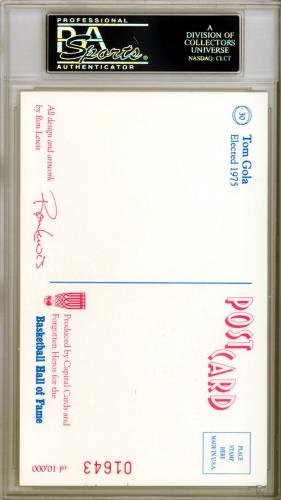 Tom Gola Autographed Signed HOF Postcard New York Knicks #83963446 PSA/DNA Certified NBA Cut Signatures