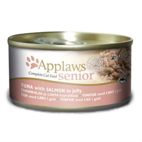Applaws Wet Cat Food 70g Tin Tuna with Salmon in a soft Jelly (Case Of 24)