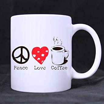 com funny quotes mug peace love coffee ceramic white mugs