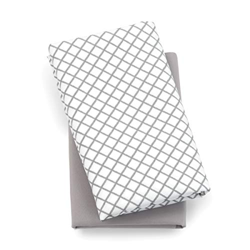 Chicco Lullaby Playard Sheets 2 Piece Set, Grey Diamond
