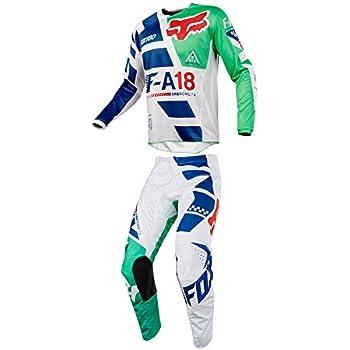 4f6b1b65f Fox Racing 2018 180 Sayak Jersey Pants Adult Mens Combo Offroad MX Gear  Motocross Riding Gear Green