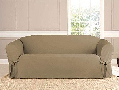 Kashi Micro-suede Slipcover Sofa Loveseat Chair Furniture Cover (Sofa, Taupe)
