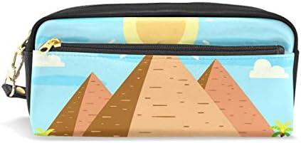 Pyramids - Estuche para lápices (piel sintética), diseño de Egipto: Amazon.es: Oficina y papelería