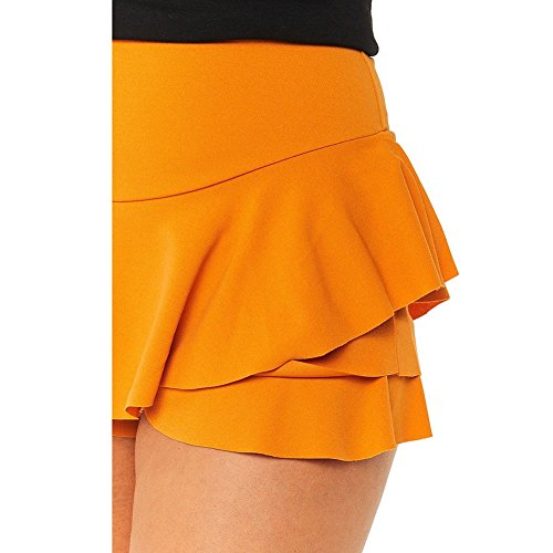 Shorts Volants Taille Haute Jupe Juleya Mini Ruffled Jaune Jupes Womens Layered YwPxxFXqzt