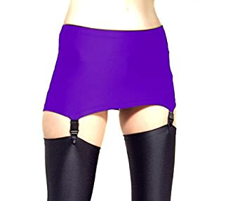 Madame Fantasy High Waisted Spandex Pull On Suspender Belt