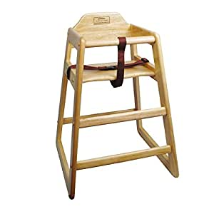Winco CHH-101 Unassembled Wooden High Chair, Natural