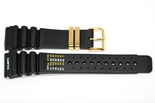24MM BLACK RUBBER WATCH BAND STRAP FITS AQUALAND PROMASTER DUPLEX & MORE