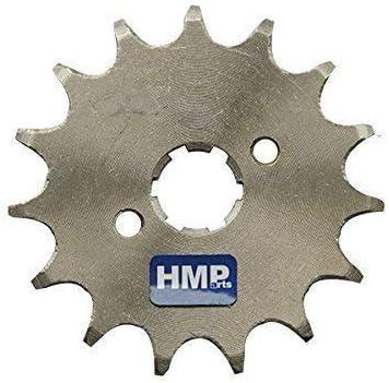 17 mm HMParts Dirt Bike//Pit Bike//Quad//ATV//Monkey DAX Pignone 428 con Piastra di Sicurezza Varie Dimensioni Albero 17 MM 428 13 Z