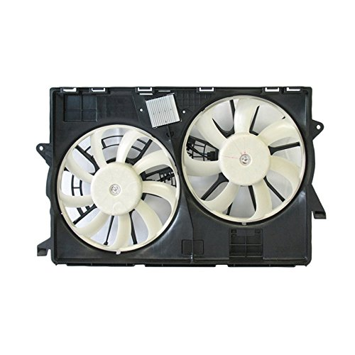 (NEW DUAL RADIATOR AND CONDENSER FAN FITS JEEP CHEROKEE 3.2L 2014-2017 CH3115177 )