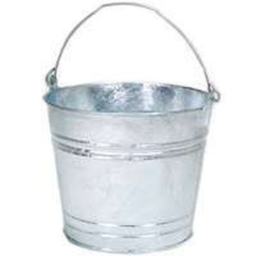 Lot of (6) 8 Hot Dipped Galvanized Metal 8 Qt Water Bucket Pail Tub 8 6231377