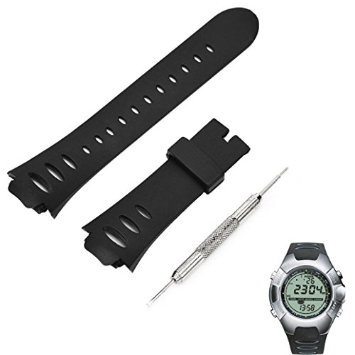 (GBSELL Luxury Rubber Replacement Watch Band Strap SS0S4723000 For SUUNTO OBSERVER SR X6HRM)