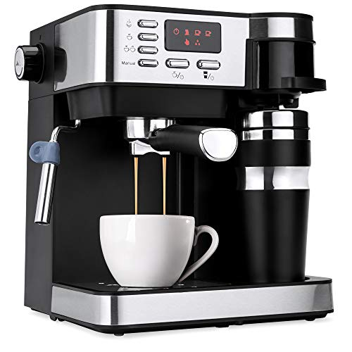(Best Choice Products 3-in-1 15-Bar Espresso, Coffee, and Cappuccino Maker Machine w/Steam Frother, Thermoblock System)