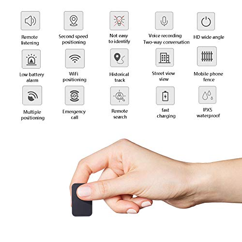 OMZBM Mini Hidden Spy GPS Tracker Locator Device Used For The Elderly, Children Are Anti-Lost,Item Tracker,Phone Finder,Ios/Android Compatible