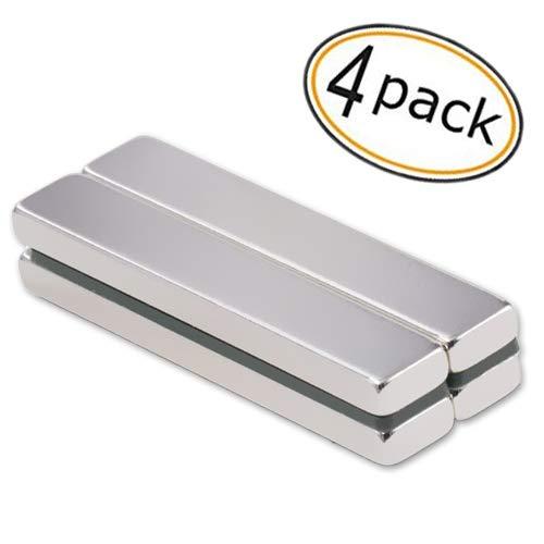 Powerful Neodymium Bar Magnets, Powerful Refrigerator Rare-Earth Metal Neodymium Magnet for Refrigerator DIY, Building, Scientific, Craft, and Office -60