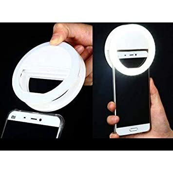2ac7eadc978 Luz Selfie Ring Light Clipe Anel Led Flash Celular Universal: Amazon ...