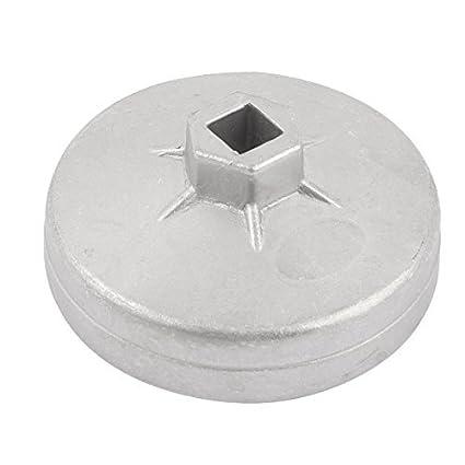 eDealMax 89mm Dia 15 flautas del filtro de aceite Socket Cap removedor de la llave para