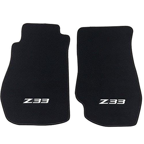 350z Floor Mats - Floor Mat Fits 2003-2009 Nissan 350Z Z33 | Logo Factory Fitment Nylon 2PC Black Car Floor Carpets Carpet liner by IKON MOTORSPORTS | ?2004 2005 2006 2007 2008